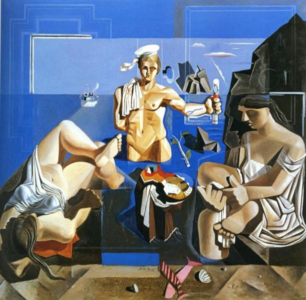 Neo-Cubist Academy (Composition with Three Figures), 1926 - Salvador Dali