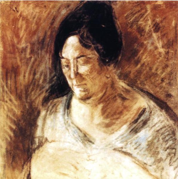Portrait of the Artist's Mother, 1920 - Salvador Dali