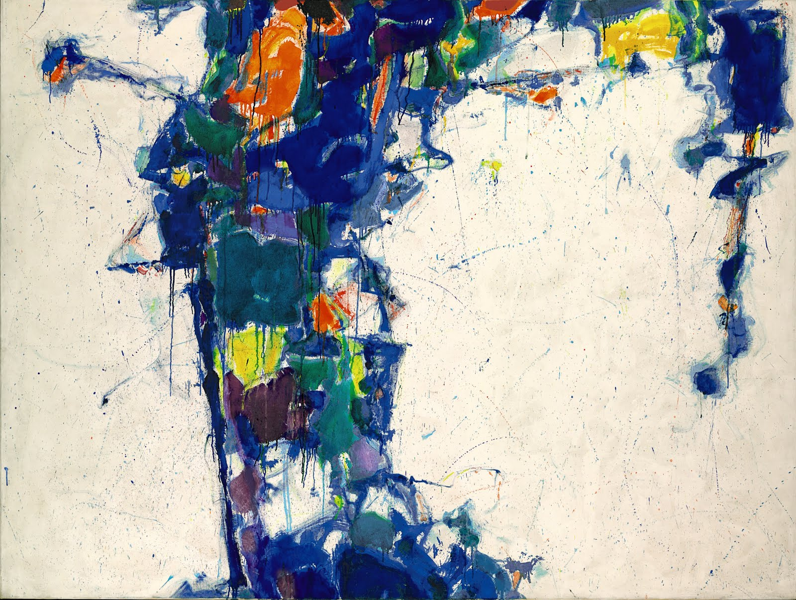 Sam Francis Middle Blue, 1957 oil on canvas