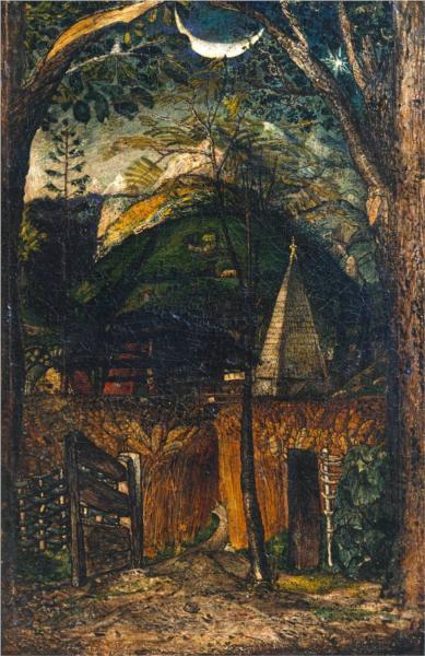 A Hilly Scene - Samuel Palmer