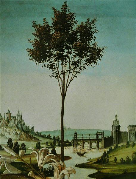 AnnunciationCestello (detail), 1489 - 1490 - Sandro Botticelli