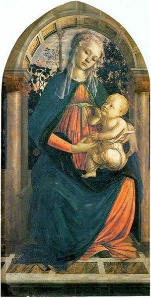 The Madonna of the Roses - Botticelli Sandro