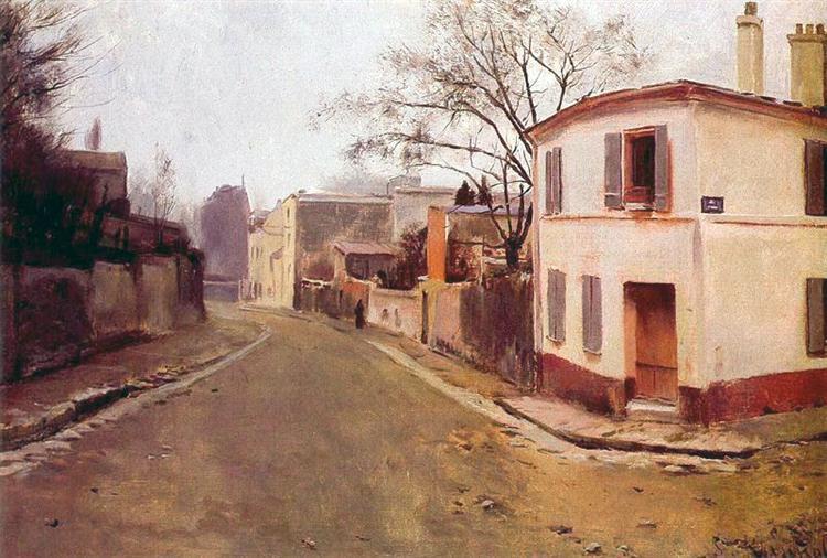 Rue des Saules in Montmartre - Santiago Rusinol