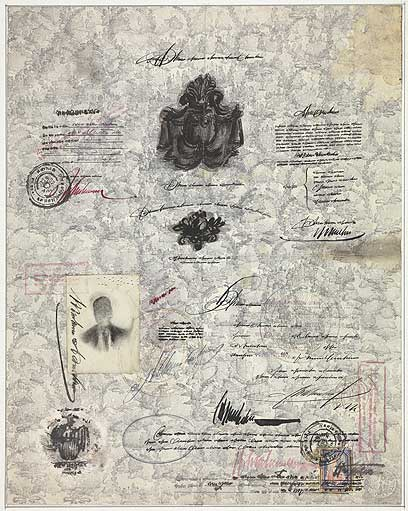 Passport, 1951 - Saul Steinberg