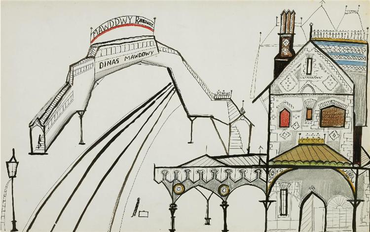 Railway, 1951 - Saul Steinberg