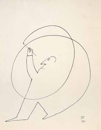 Untitled, 1948 - Saul Steinberg