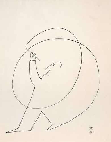 Untitled, 1948 - Saul Steinberg