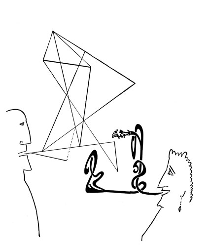 Untitled, 1957 - Saul Steinberg