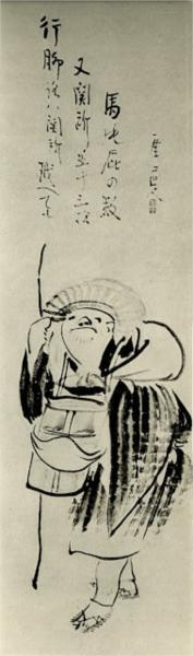 Traveling Monk and kyoku - Sengai