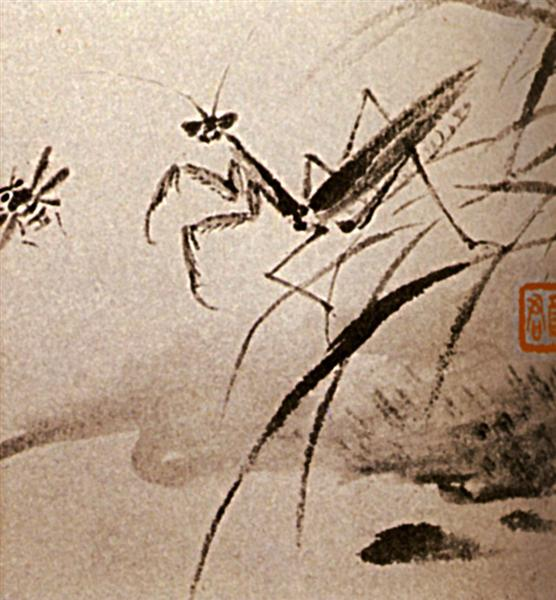 Studies of insects, Mante, 1656 - 1707 - Shi Tao
