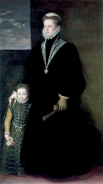 Portrait of Juana of Austria with a Young Girl, 1561 - Sofonisba Anguissola
