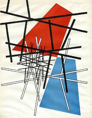 O. T.(Croisement de droites, plans), 1942 - Sophie Taeuber-Arp