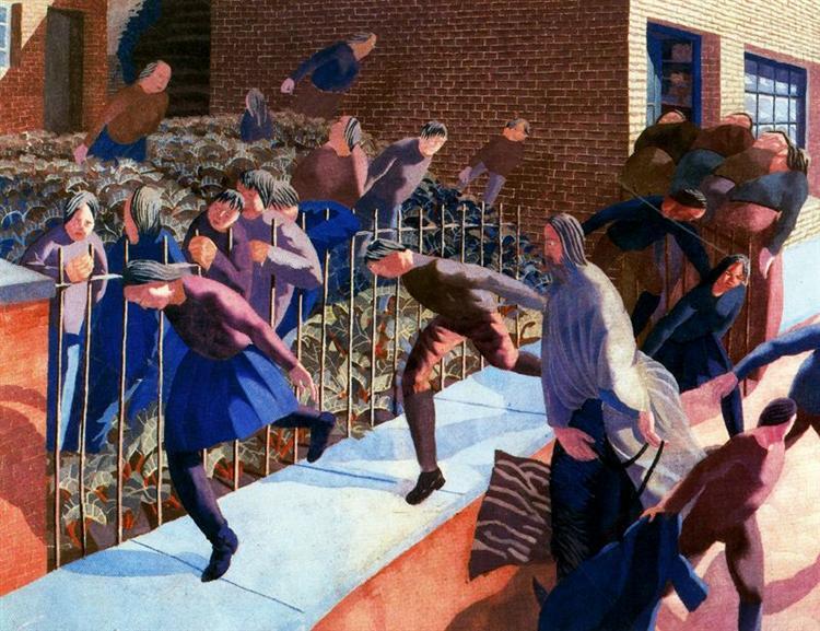Christ's entry into Jerusalem - Stanley Spencer