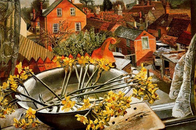 From the Artist's Studio, 1938 - Stanley Spencer