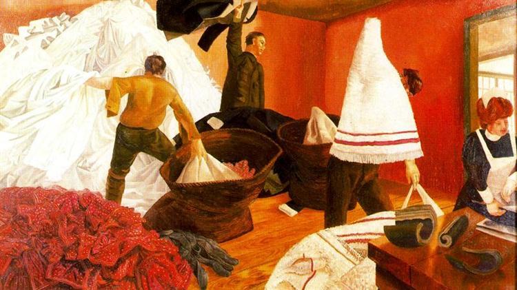 Sorting Laundry, 1927 - Stanley Spencer