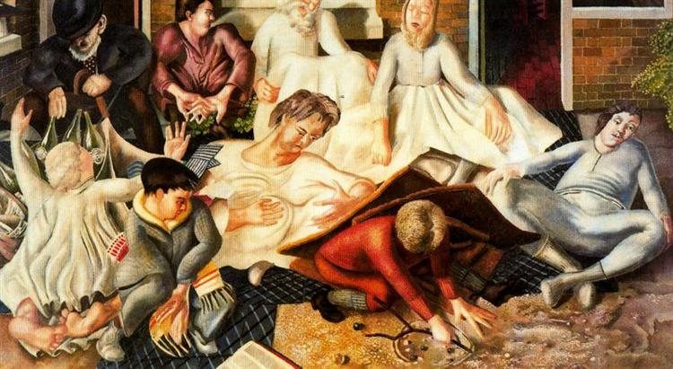 Villagers and saints - Stanley Spencer