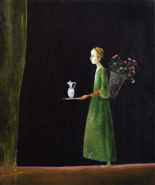 Girl With Flowers, 2005 - Штефан Кюлтиа