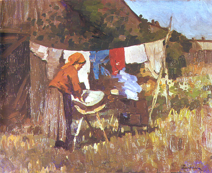 The Laundress - Ștefan Luchian