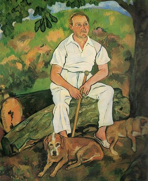 Andre Utter and His Dogs, 1932 - Suzanne Valadon