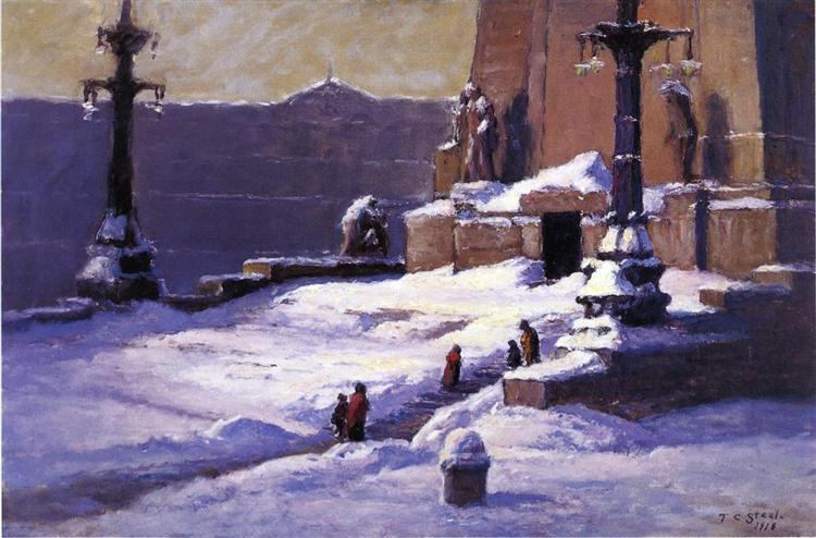 Monument in the Snow, 1918 - T. C. Steele