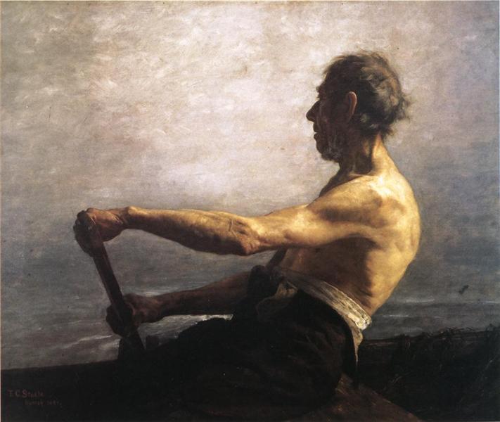 The Boatman, 1884 - T. C. Steele