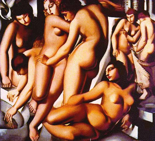 Women Bathing - Tamara de Lempicka