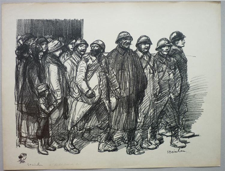 A bientot pour de bon, 1916 - Theophile Steinlen