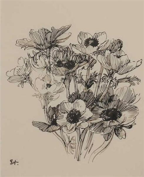 Bouquet de Fleurs - Theophile Steinlen