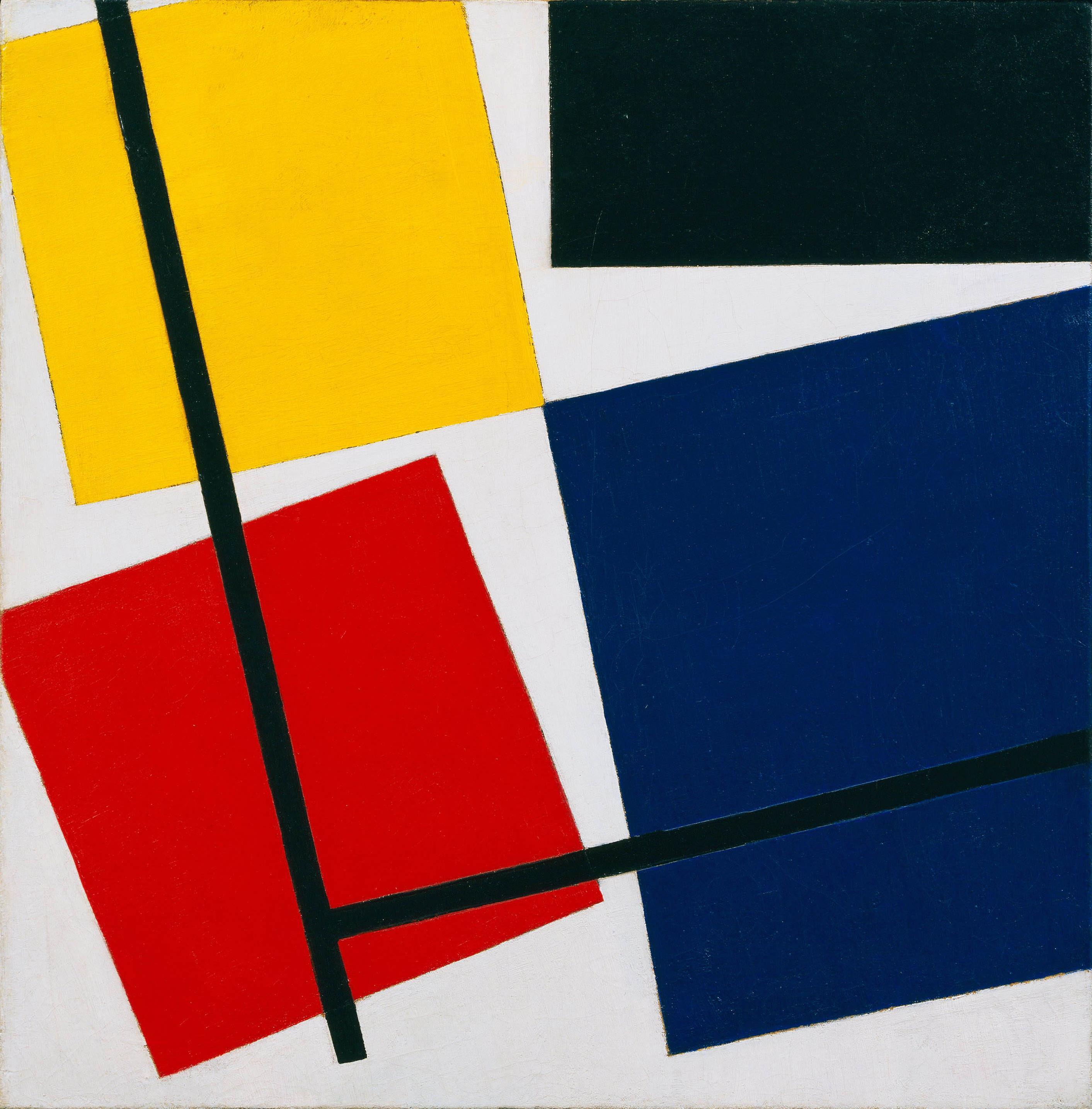 """Kết quả hình ảnh cho """"counter-composition"""" Theo van Doesburg."""