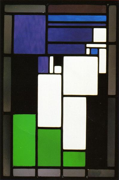 """Stained glass composition """"Woman"""", 1917 - Theo van Doesburg"""