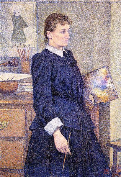 Anna Boch in Her Studio, c.1893 - Theo van Rysselberghe