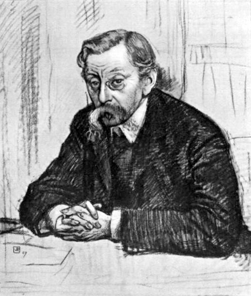 Pencil drawing of Belgian poet Émile Verhaeren, 1915 - Theo van Rysselberghe