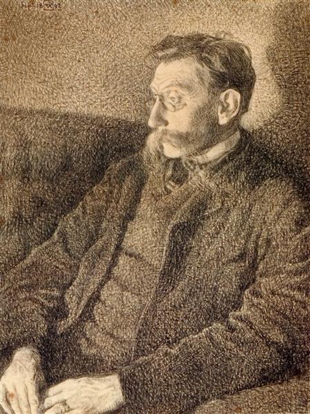 Portrait of Emile Verhaeren, 1892 - Theo van Rysselberghe