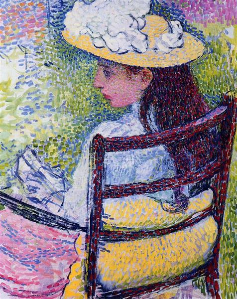 Portrait of Jeanne Pissarro, 1895 - Theo van Rysselberghe