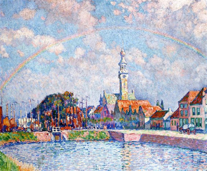 Rainbow over Veere, 1906 - Theo van Rysselberghe