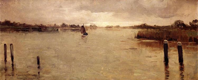 Spaarnwoude island, 1883 - Theo van Rysselberghe