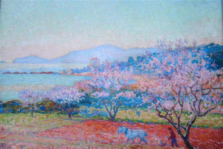 The Almond Flowers, 1918 - Theo van Rysselberghe