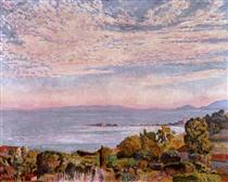 The Bay of St. Clair - Théo van Rysselberghe