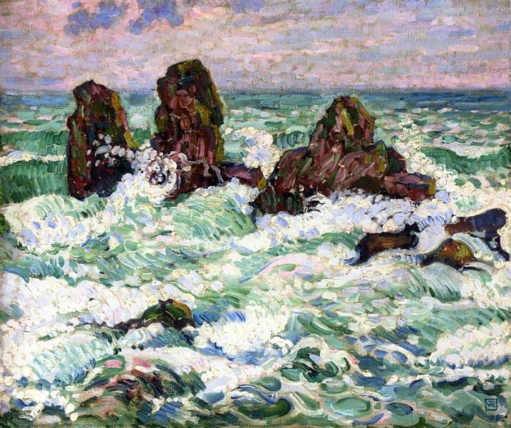 The Rocks, 1908 - Theo van Rysselberghe