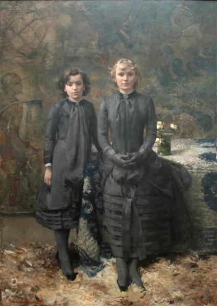 The Sisters of the Painter Schlobach, 1884 - Theo van Rysselberghe
