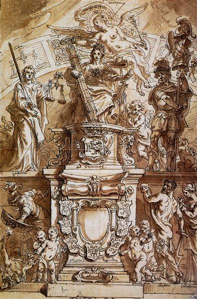 Allegory United Province - Theodoor van Thulden