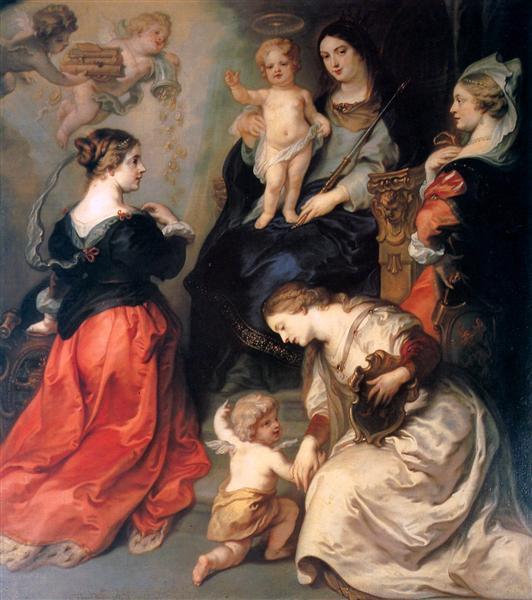 Theodoor Flanders and Brabant honour Maria - Теодор ван Тульден