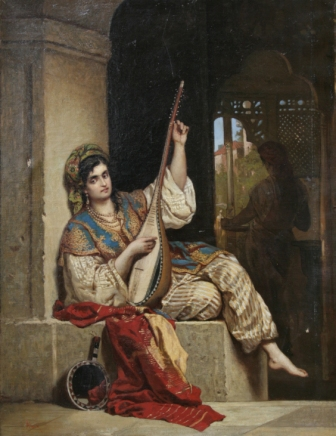 The Lute Singer - Theodor Aman
