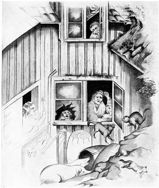 Avbrytelse Av Kattemusikk - Theodor Severin Kittelsen