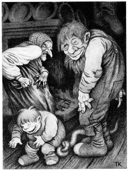 Foreldrestolthet - Theodor Severin Kittelsen