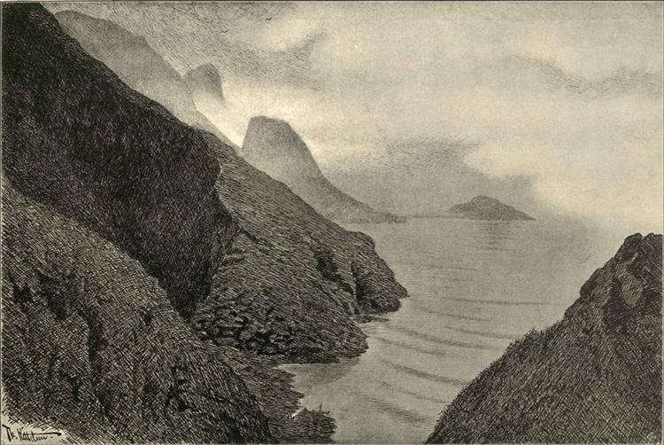 Fra Lofoten, 1891 - Теодор Кітельсен