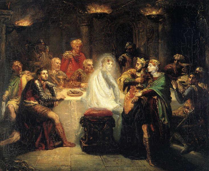 Macbeth apercevant le spectre de Banco, 1854 - Théodore Chassériau
