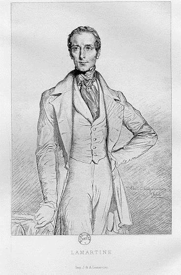 Portrait de Lamartine, 1844 - Theodore Chasseriau