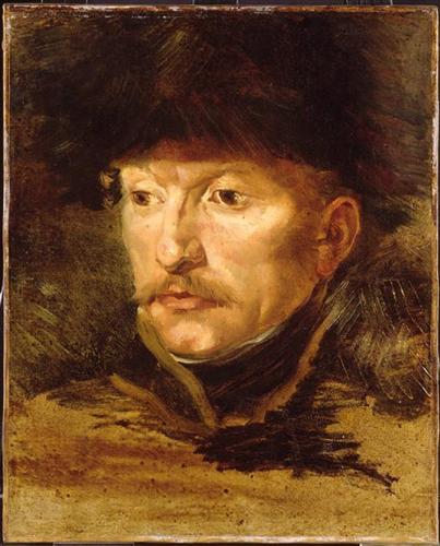 Head of a horseman   - Теодор Жерико