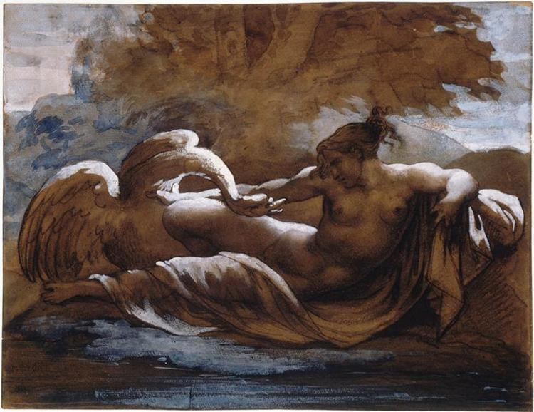 Leda and the Swan, 1817 - Théodore Géricault